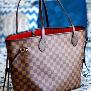 rNew Louis Vuitton Neverfull Handbag Purse MMy